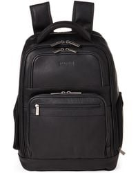Kenneth Cole Reaction - Black Ease-back Leather Computer Backpack - Lyst