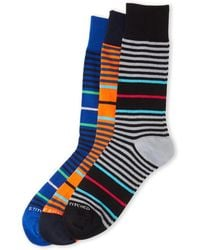 Unsimply Stitched - 3-pack Striped Crew Socks - Lyst