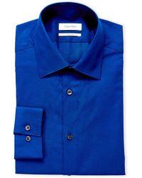 CALVIN KLEIN 205W39NYC - Ultra Blue Slim Fit Dress Shirt - Lyst