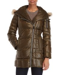 Marc New York - Lexi Real Fur Trim Quilted Coat - Lyst
