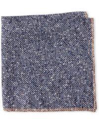 Brunello Cucinelli - Blue Speckle Linen Pocket Square - Lyst