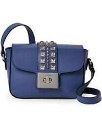 1ab87d3871 Valentino By Mario Valentino - Indigo Blue Yasmine Studded Leather  Crossbody - Lyst