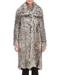 Transit - Wool Textured Long Coat - Lyst