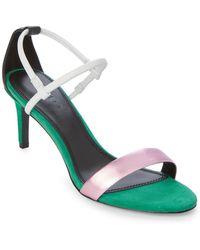 Sandro - Green Meadow Juliette Strappy Sandals - Lyst
