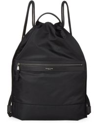 Michael Kors - Black Kent Flat Drawstring Backpack - Lyst