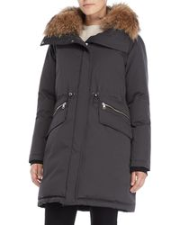 SOIA & KYO - Ange Real Fur Hooded Coat - Lyst