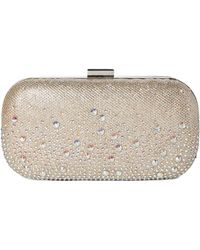 Jessica Mcclintock - Champagne Emme Sparkle Convertible Clutch - Lyst