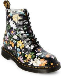 Dr. Martens   Darcy Floral Pascal 8 Eye Boots   Lyst