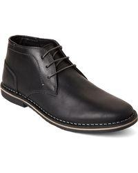 Steve Madden - Black Harken Leather Chukka Boots - Lyst