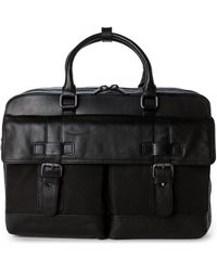 Kenneth Cole - Black Leather Convertible Backpack - Lyst