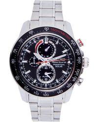 Seiko - Ssc357 Silver-Tone & Black Watch - Lyst