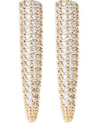 Eddie Borgo - Gold-tone Pave Spike Earrings - Lyst