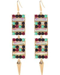 Steve Madden - Gold-tone Rectangular Spike Earrings - Lyst