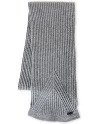 John Varvatos | Wool Rib Knit Scarf | Lyst