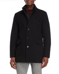Cole Haan - Bibbed Wool Overcoat - Lyst