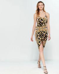 21ee9a7de2ccd On sale Almost Famous - Status Print Notch Dress - Lyst