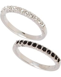 Swarovski - Set Of Two Mix Rings Size 6.75 - Lyst