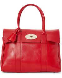 Mulberry - Orange Bayswater Leather Tote - Lyst