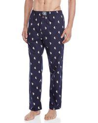 U.S. POLO ASSN. - Printed Woven Pajama Pants - Lyst