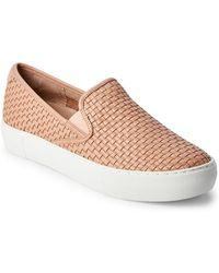J/Slides - Blush Alyssa Woven Slip On Sneakers - Lyst
