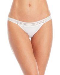 DKNY - Lace Trim Classic Bikini Panty - Lyst