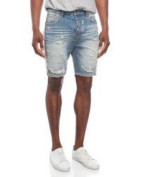 BBCICECREAM - Marker Distressed Denim Shorts - Lyst