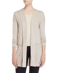 Forte - Hooded Open Cashmere Cardigan - Lyst
