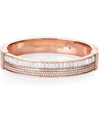 Michael Kors - Rose Gold-tone Hinged Bracelet - Lyst