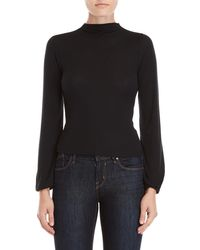 Derek Heart - Ribbed Balloon Sleeve Top - Lyst