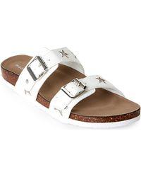 Madden Girl - White & Silver Brando Footbed Sandals - Lyst