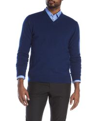 Qi - Cashmere V-Neck Sweater - Lyst