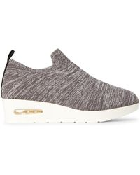 DKNY Dark Gray Angie Knit Wedge Sneakers