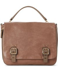 Vince Camuto - Delos Leather Messenger Bag - Lyst