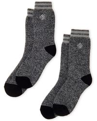 Columbia - Two-pack Black Thermal Socks - Lyst