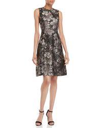 Dolce & Gabbana - Floral Brocade Fit & Flare Dress - Lyst