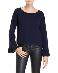 MILLY - Bell Sleeve Cashmere Sweater - Lyst