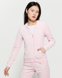 Juicy Couture - Velour Logo Hooded Jacket - Lyst