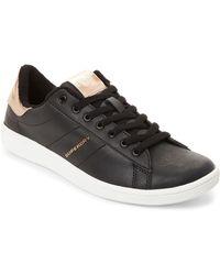 Superdry - Black & Rose Gold Harper Low-top Sneakers - Lyst
