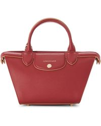 Longchamp - Red Le Pliage Heritage Small Satchel - Lyst