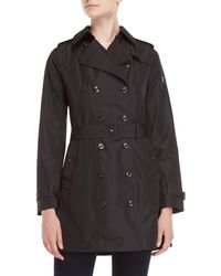 Save The Duck - Double-breasted Raincoat - Lyst