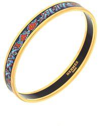 Hermès - Printed Enamel Bangle Narrow Bracelet - Vintage - Lyst