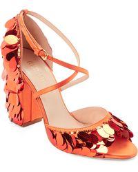 65bbc638626 Gedebe - Jenny Sequin-embellished Satin Sandals - Lyst