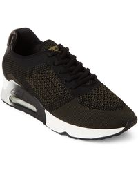 Ash - Army & Black Lucky Knit Sneakers - Lyst