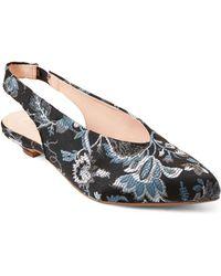 69fd93af0efc0f Lyst - Gabriella Leather Cutwork Closed Toe Flat Sandals in Natural