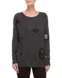 Ply Cashmere - Cashmere Skull Sweater - Lyst