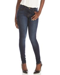 2b6c30d2477 Lyst - Flying Monkey Midnight Destroyed Skinny Jeans in Blue