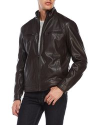 MICHAEL Michael Kors - Perforated Faux Leather Jacket - Lyst