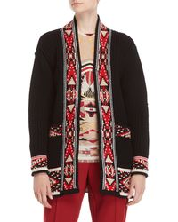 Leonard - Black Wool Cardigan - Lyst