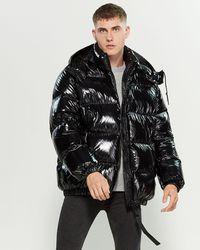 Add Black Oversized Down Coat