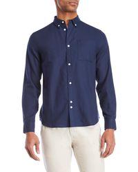 Bellfield - Navy Button-down Shirt - Lyst